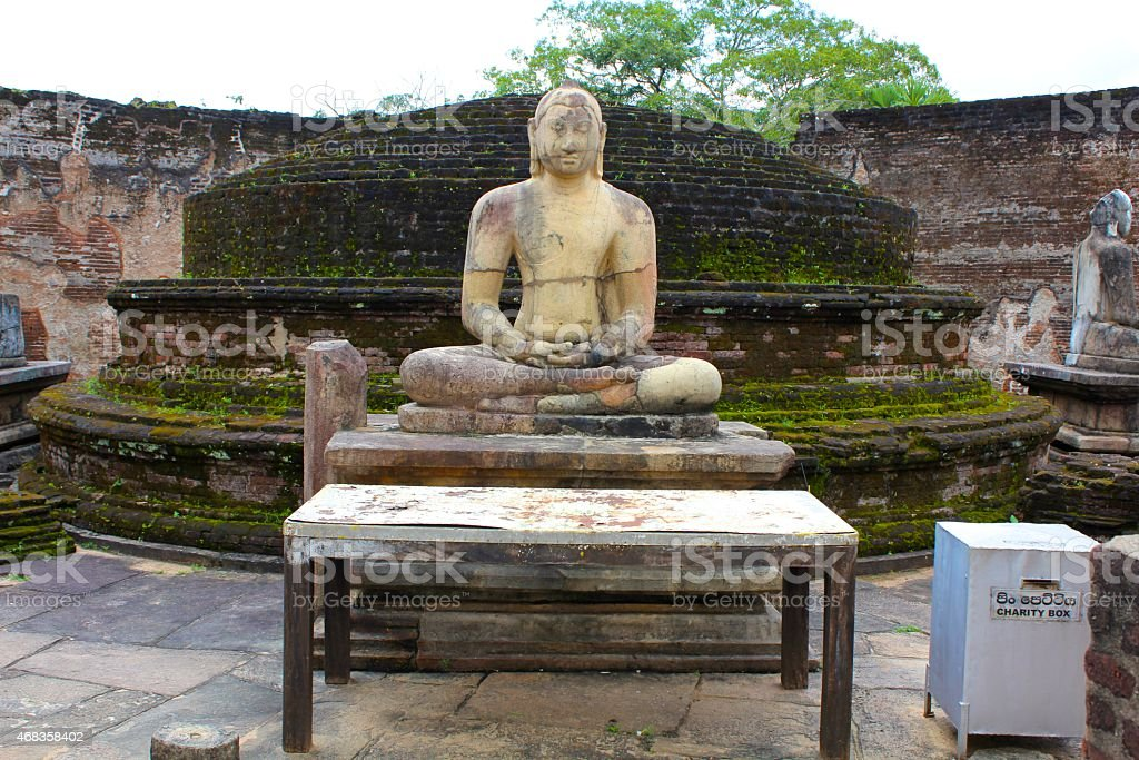 Ancient Sri Lankan Buddha, Polonnaruwa royalty-free stock photo