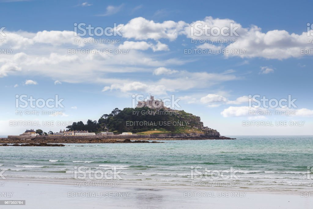 Ancient St Michael's Mount castle in Cornwall England UK stock photo