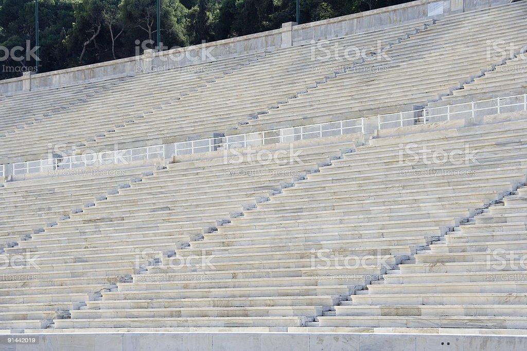 Ancient Stadium Seating royalty-free stock photo