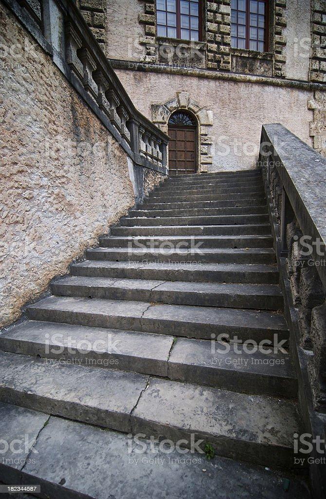 Ancient stairway stock photo