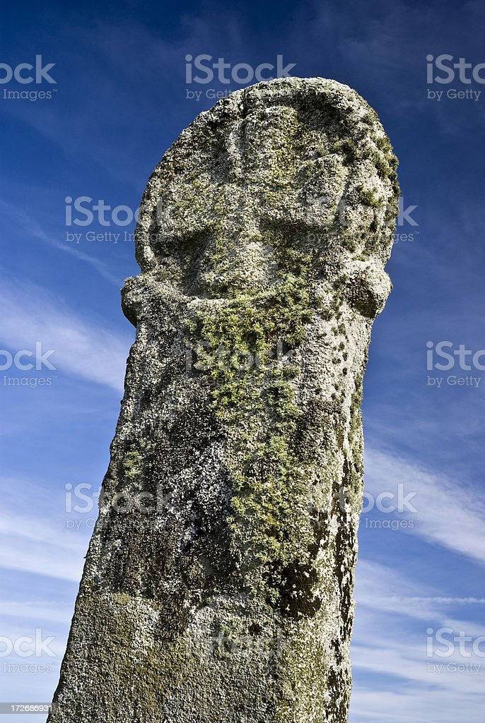 Ancient standing stone royalty-free stock photo