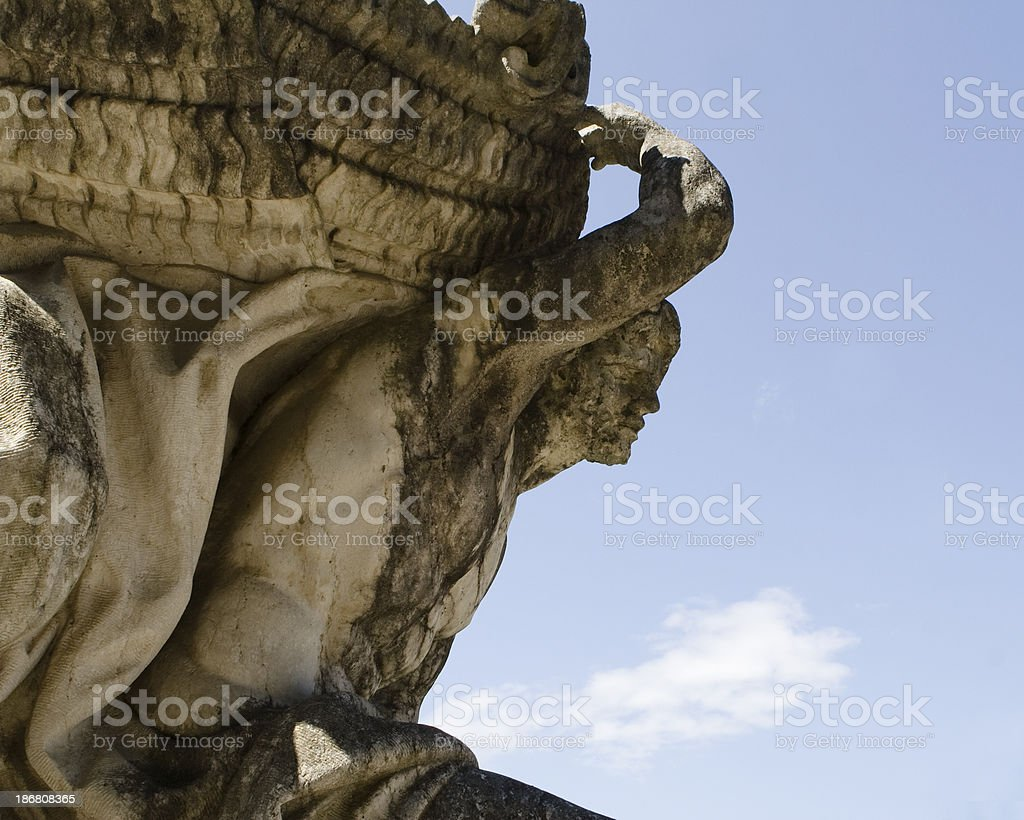Ancient Statue, Caserta, Italy royalty-free stock photo