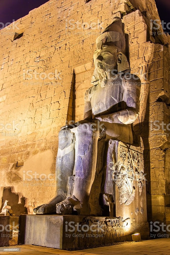 Ancient statue in Luxor temple - Egypt stock photo