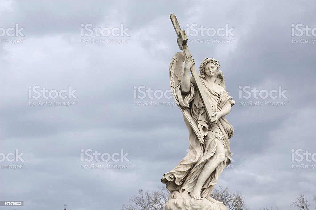 ancient statue in Rome royalty-free stock photo