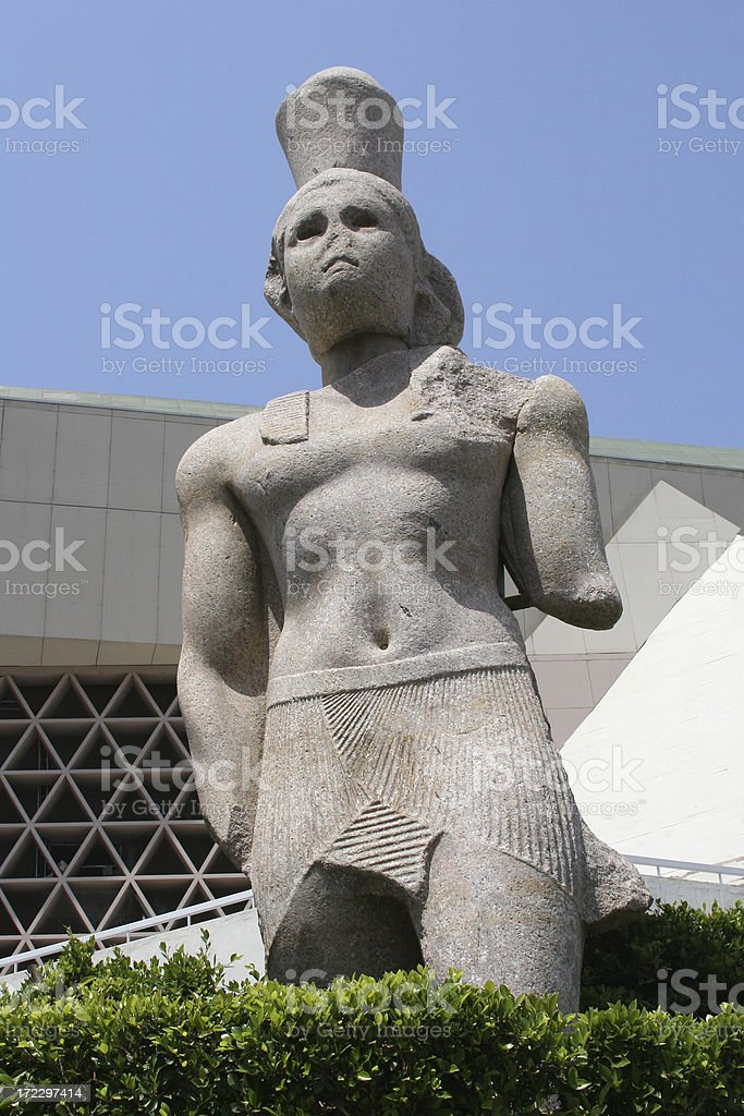 Ancient Statue of King Ptolemy I royalty-free stock photo