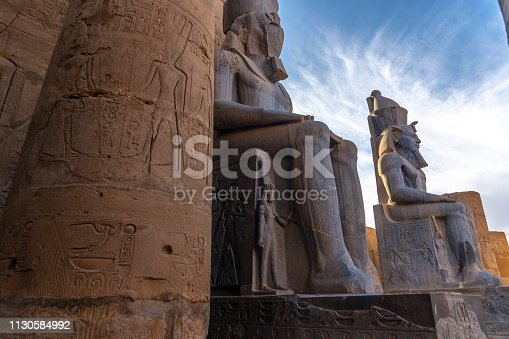 Ancient  Statue Ramses II of Luxor temple in Luxor. Egypt