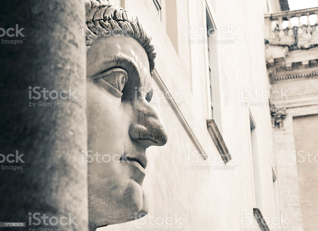Ancient statue, Rome stock photo