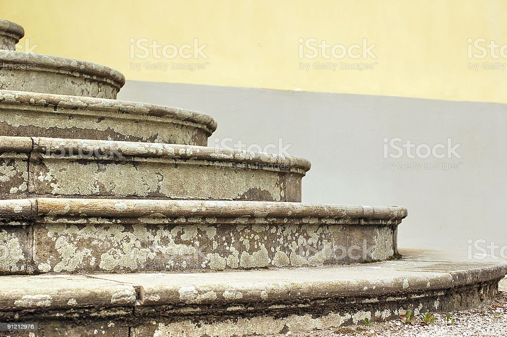 Ancient steps royalty-free stock photo