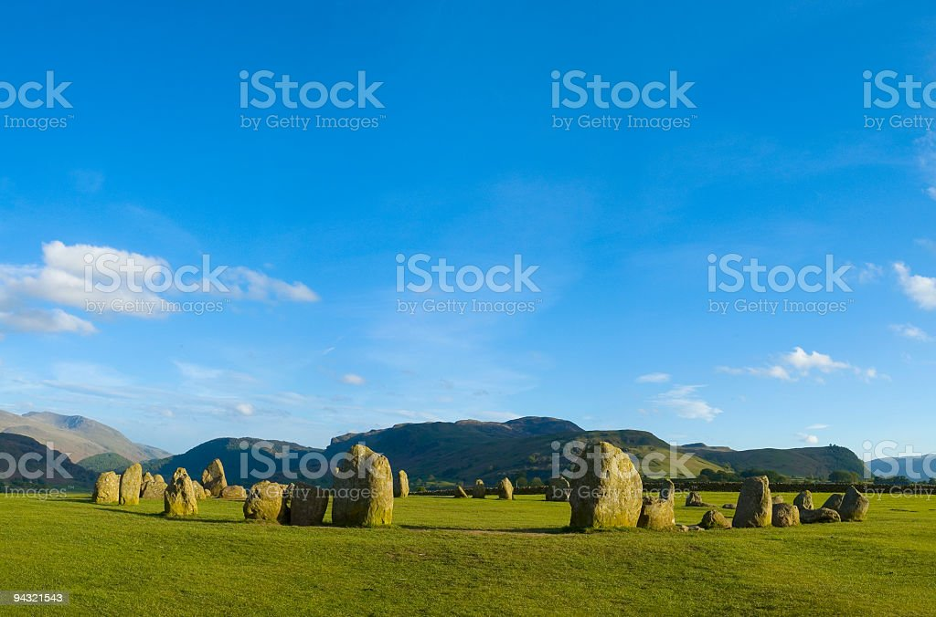 Ancient stone circle royalty-free stock photo
