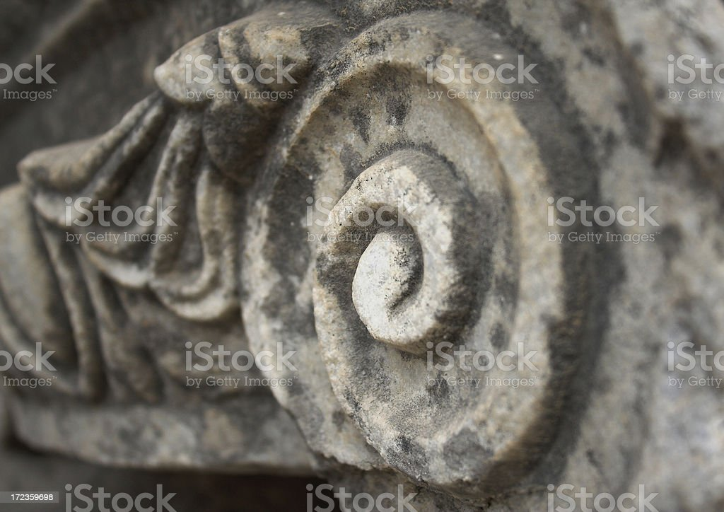 Ancient stone ornament royalty-free stock photo