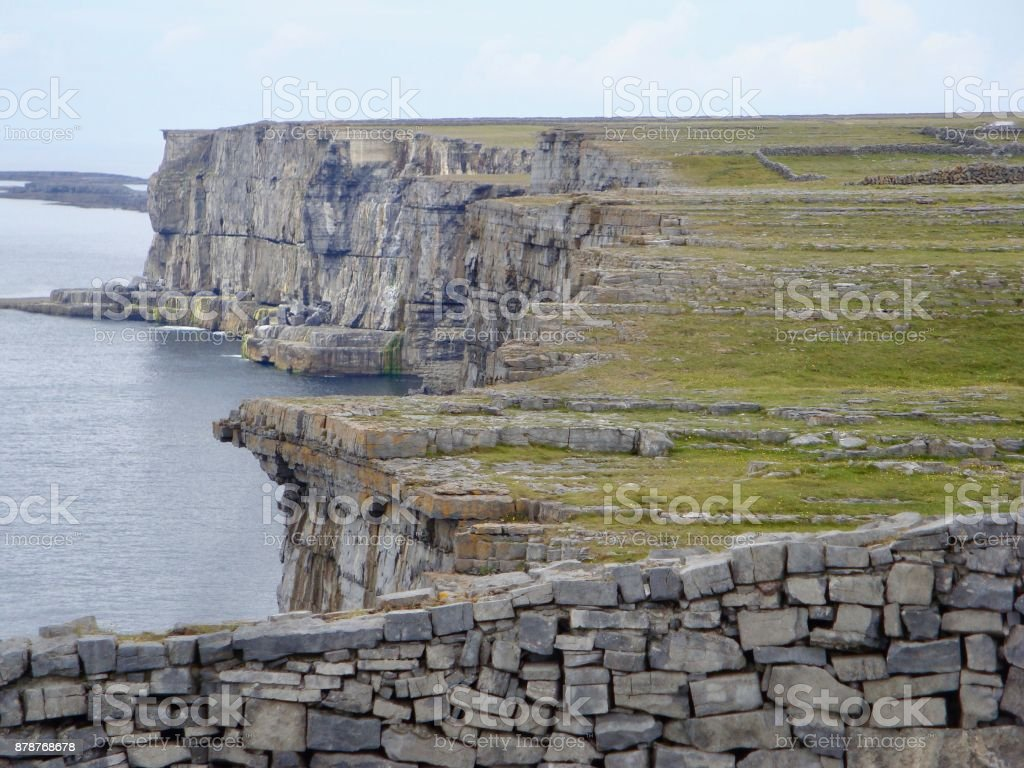 Ancient Stone Ring Fort in Rural Ireland stock photo