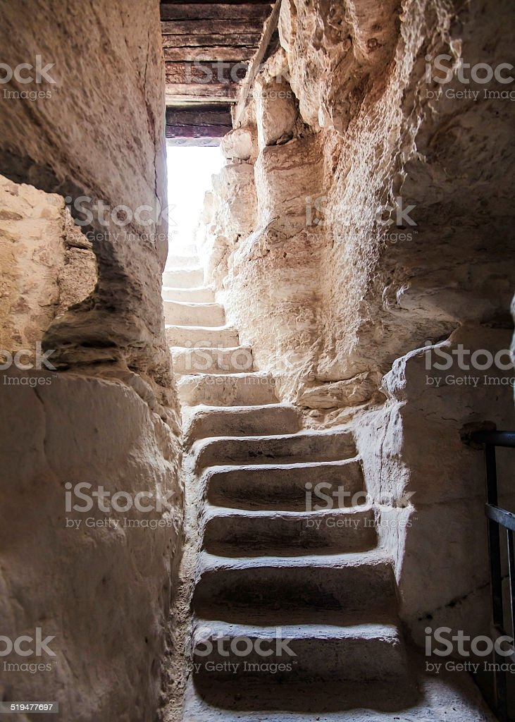 ancient stone stairs stock photo