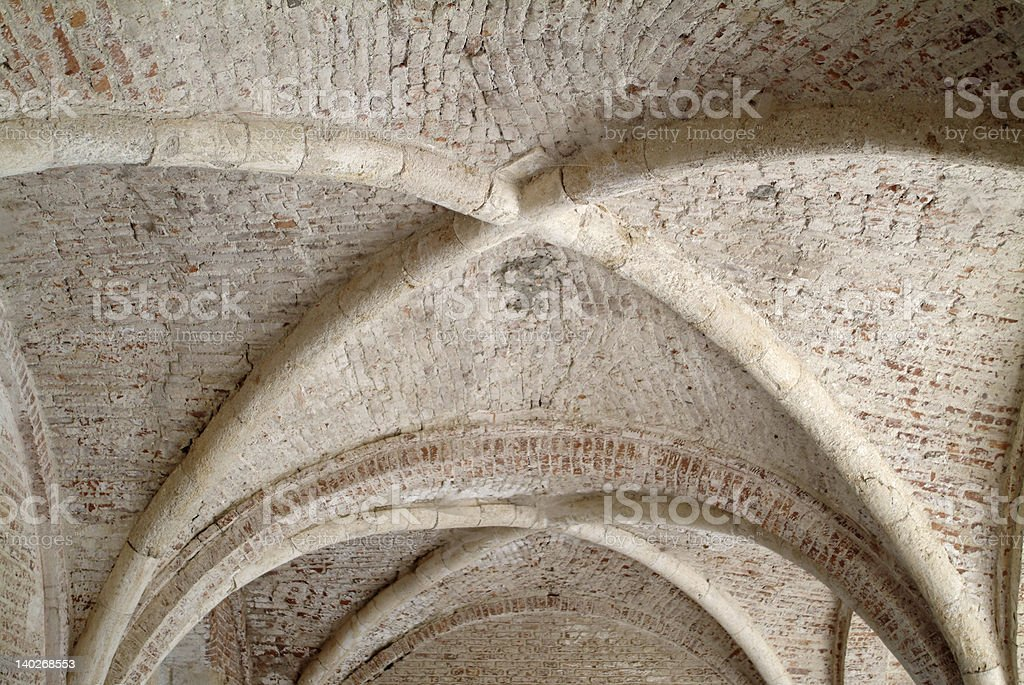 Ancient stone vault royalty-free stock photo