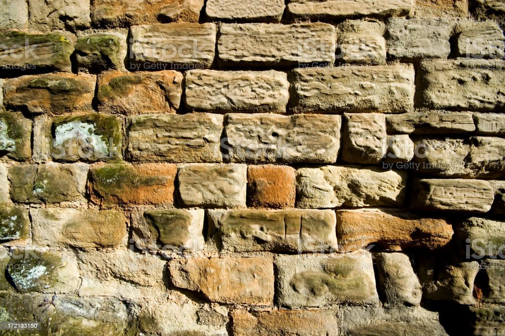 Ancient  Stone Wall Background royalty-free stock photo