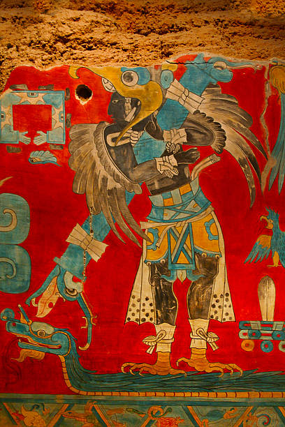 Ancient Storytelling Mexican Image Ancient Mexican Image carving craft product stock pictures, royalty-free photos & images