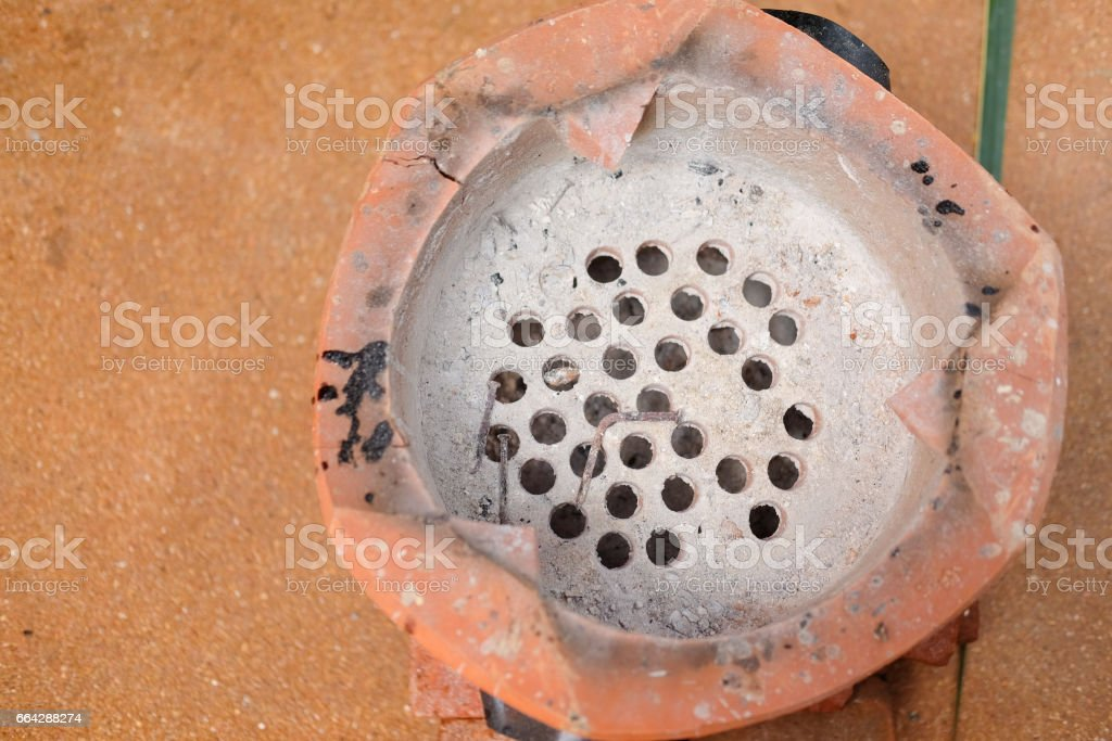 Ancient stove stock photo