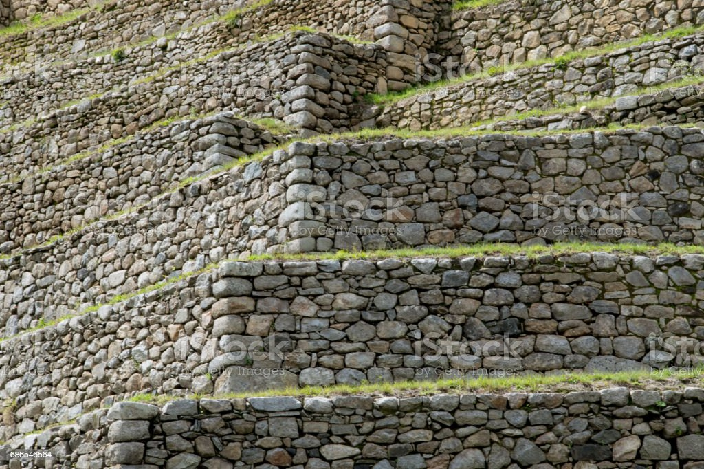 ancient structure of Machu Picchu royalty-free stock photo