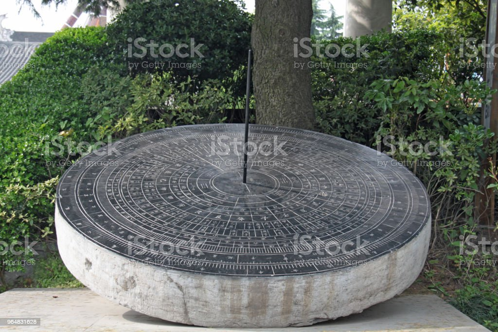 Ancient sundial in the Forbidden City - Beijing, China royalty-free stock photo