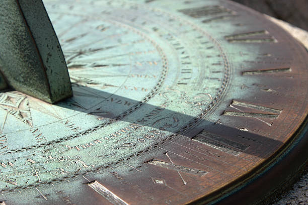 Ancient Sundial stock photo