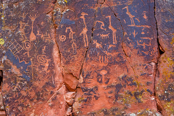 ancient symbols - hopi stock photos and pictures