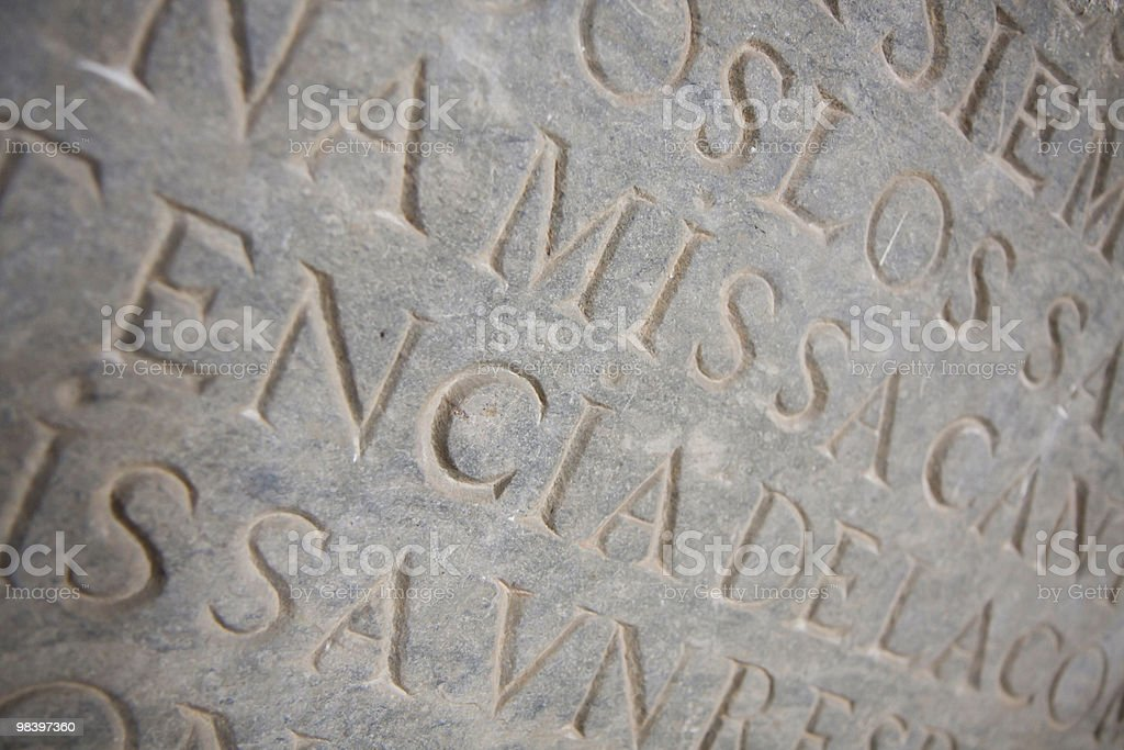 Ancient Tablet royalty-free stock photo