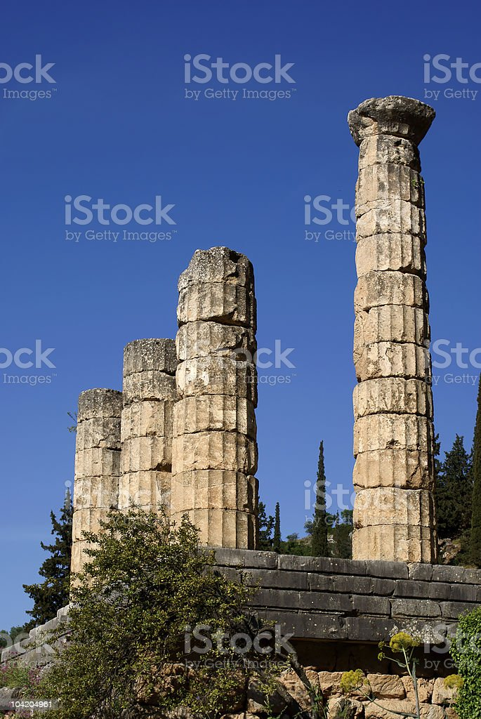 Ancient temple colums royalty-free stock photo