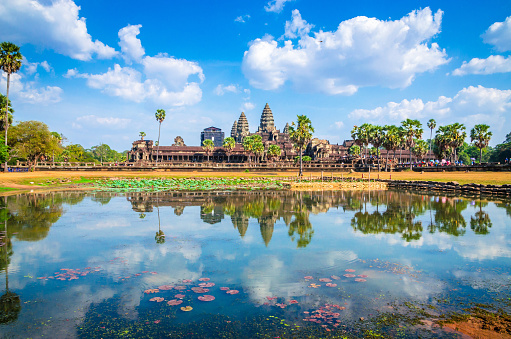 istock Ancient temple complex Angkor Wat, Siem Reap, Cambodia. 1145907316
