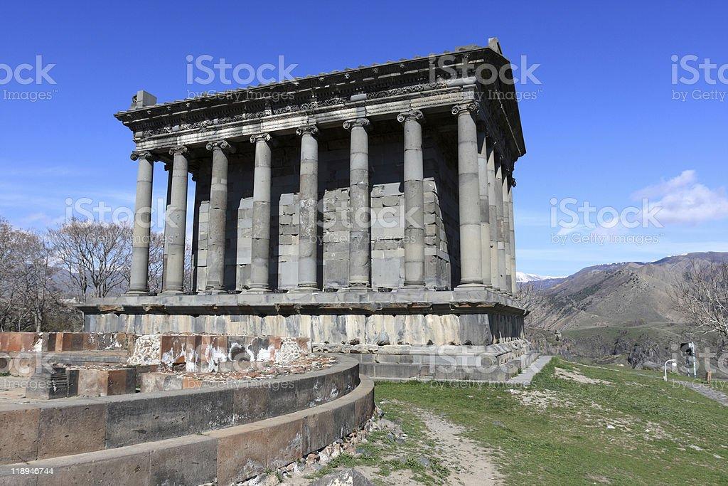 Ancient temple Garni royalty-free stock photo