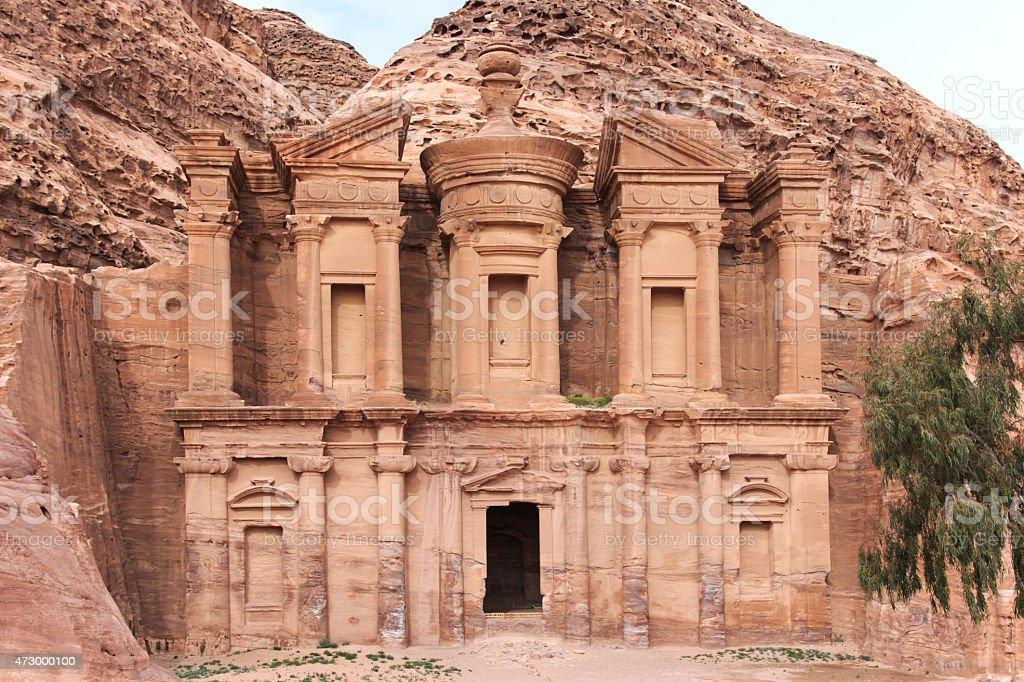 Ancient temple in Petra, Jordan stock photo