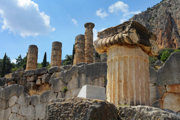 Ancient temple of Apollo at Delphi, Greece – zdjęcie