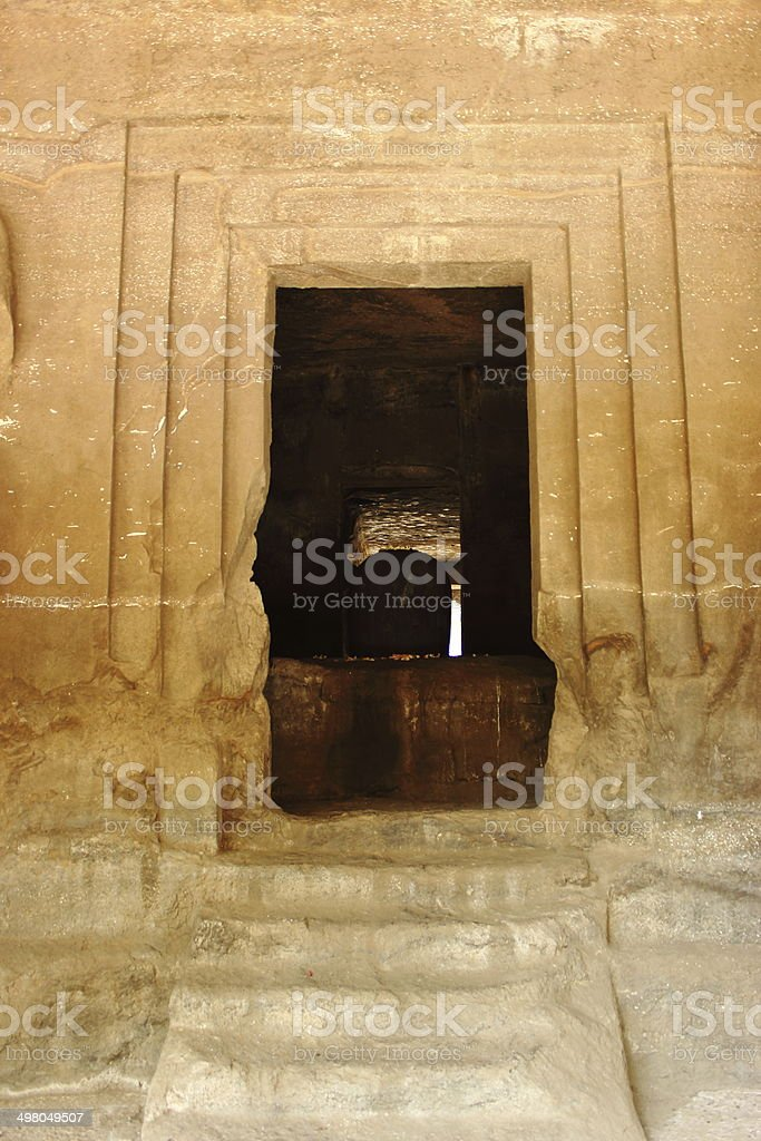 Ancient temple of Hindu god Shiva royalty-free stock photo