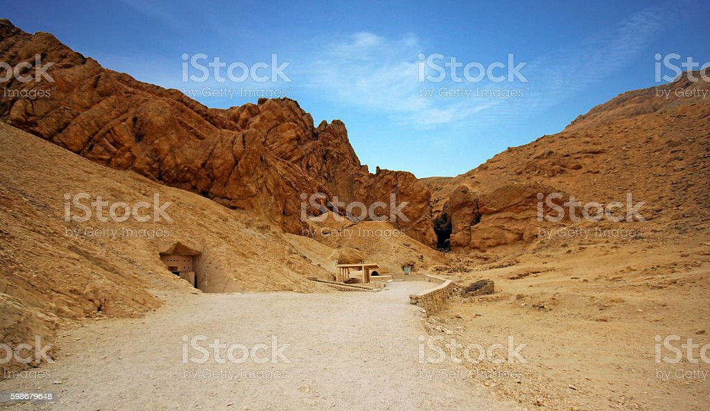 Ancient Temple of Karnak in Luxor, Egypt stock photo