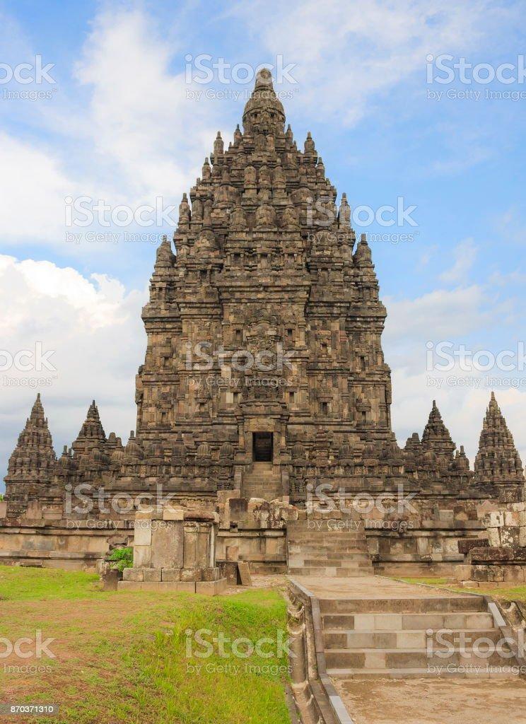 Ancient Temple of Prambanan. stock photo