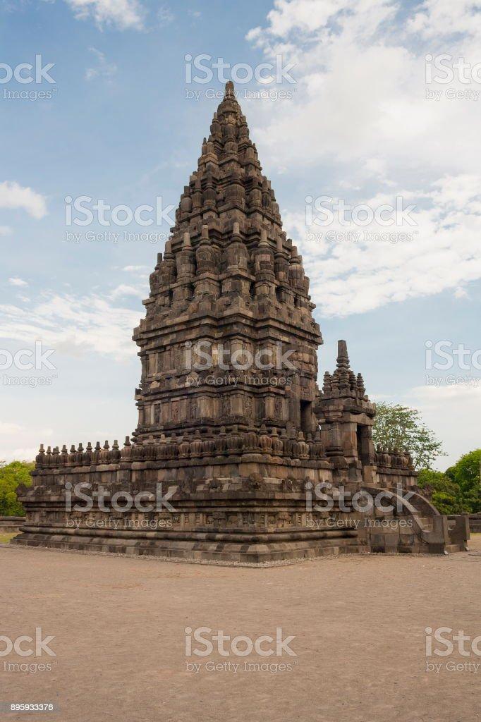 Ancient Temple of Prambanan. The island of Java. Yogyakarta. Indonesia. stock photo