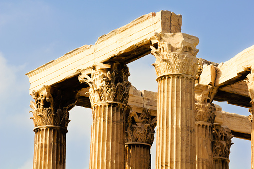Ancient Temple of Zeus in Athens. Greece