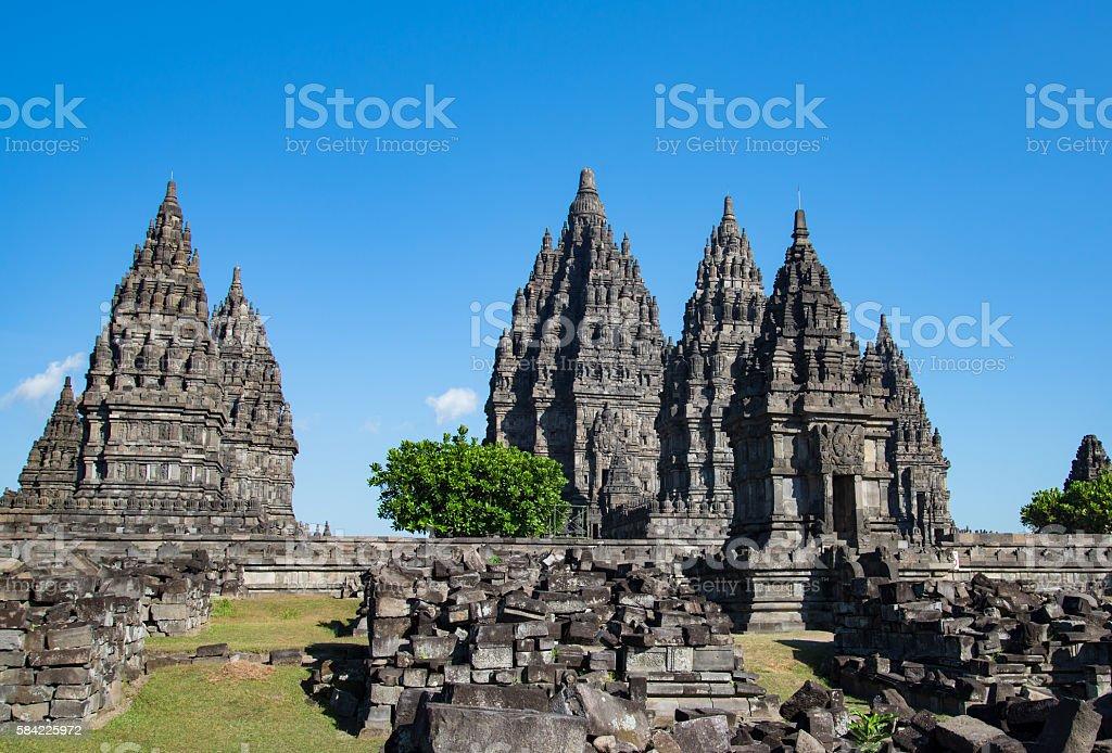ancient temple , Prambanan stock photo