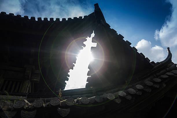 Antike Tempel mit majestätischen circle – Foto