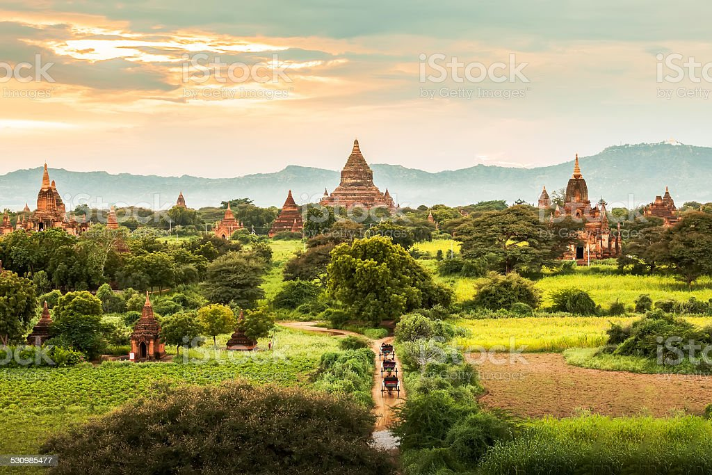 Ancient Temples in Bagan, Myanmar stock photo