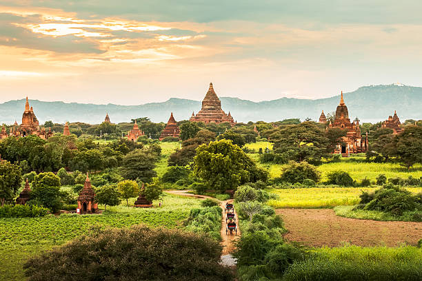 Ancient Temples in Bagan, Myanmar Ancient Temples in Bagan, Myanmar myanmar stock pictures, royalty-free photos & images