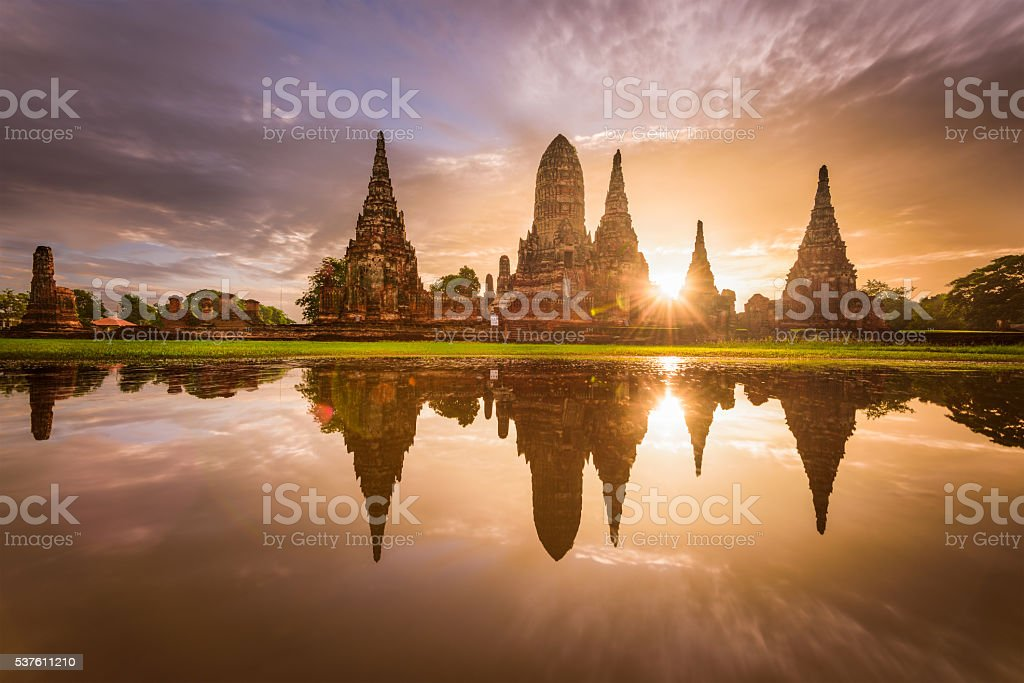 Ancient Temples in Thailand stock photo