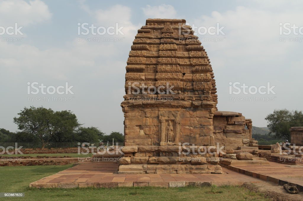Ancient temples of India stock photo