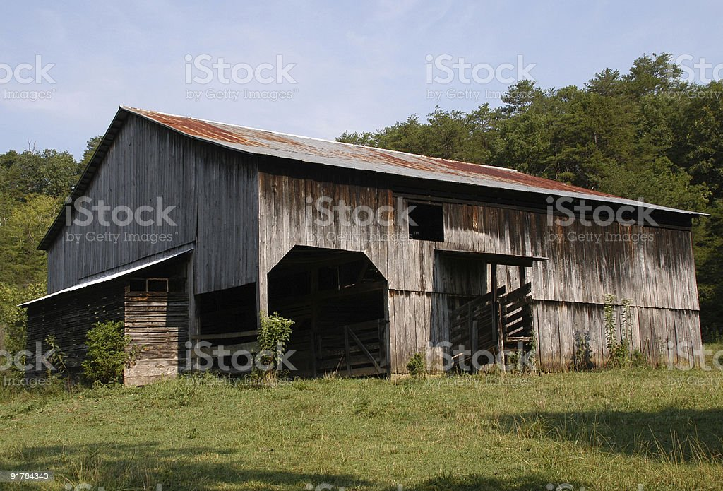 Ancient Tennessee barn royalty-free stock photo