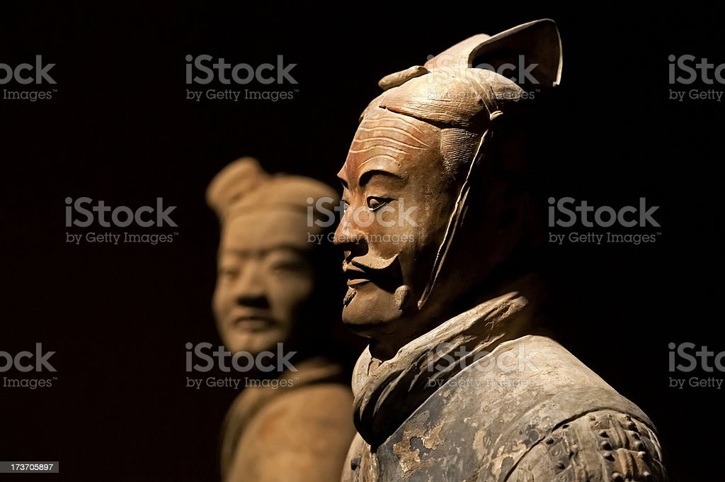 Ancient terracotta army figure in Xian - China stock photo