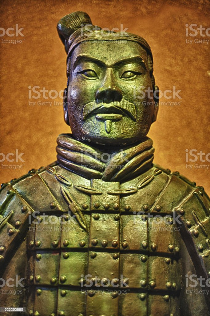 Ancient terracotta army warrior stock photo