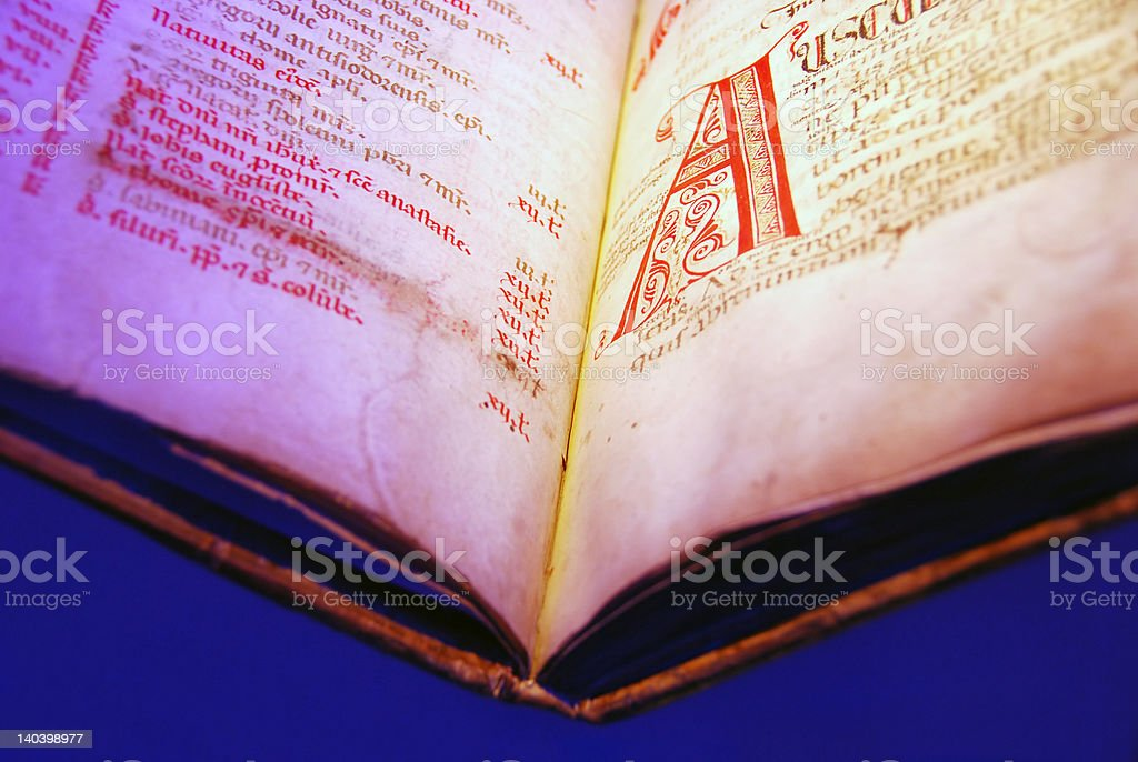 ancient text royalty-free stock photo