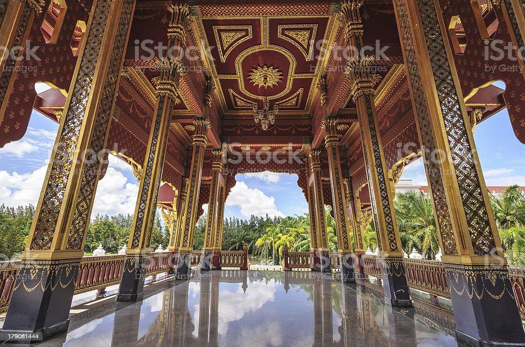 Ancient thai pavilion royalty-free stock photo