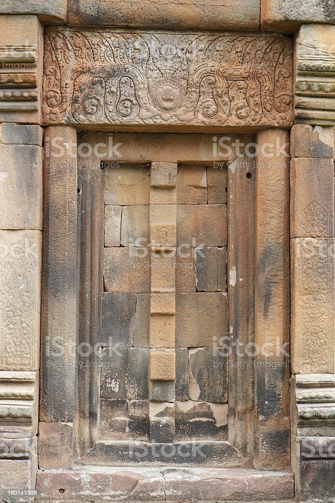 Ancient Thai stone craft royalty-free stock photo