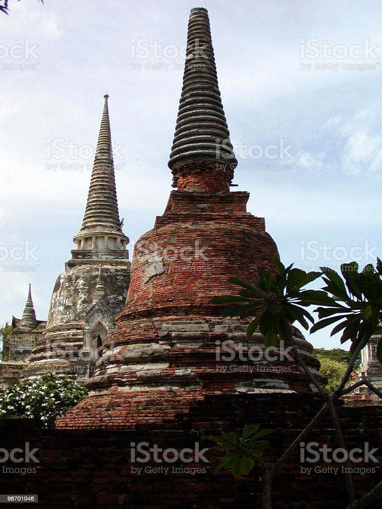 Ancient thai temples royalty-free stock photo