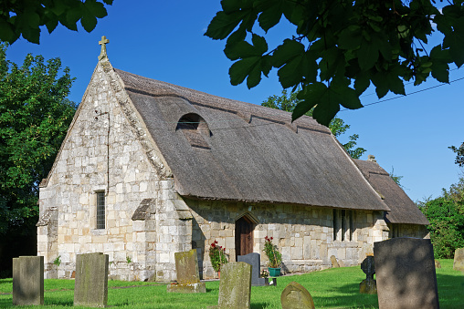 Ancient Thatched Church in Lincolnshire,UK
