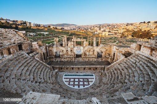 istock Ancient theater architecture Jerash in Amman, Jordan 1092466886